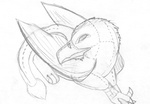 Grayscale Plushie Gryphon